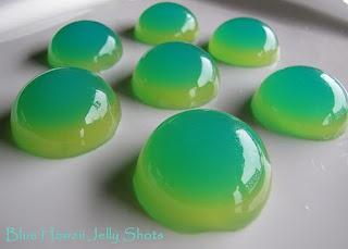 Blue Hawaii Jello Shots