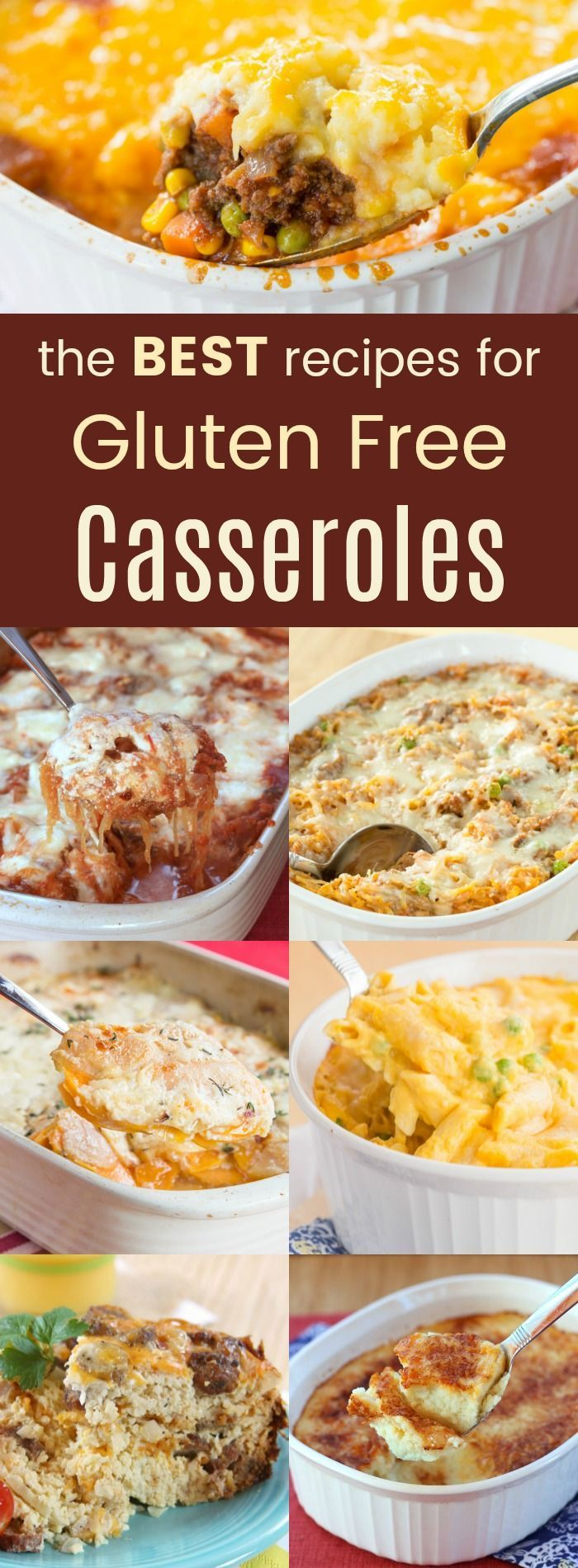 The Best Gluten-Free Casserole Recipes - main dishes and side dishes, these casseroles are the easy comfort food you crave. #glutenfree #casserole