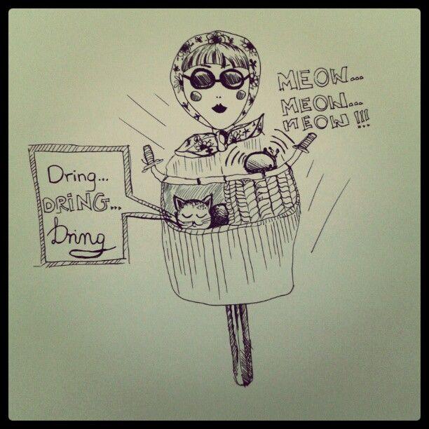 Agata Maria Bieć #agatamariabiec #illustration #dringdringdring