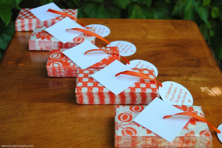 Graduation Favors...tissues for moms