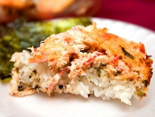 Crab Pan Sushi A great pot luck dish. Best eaten when it is right out of the oven. Serve with crispy toasted Korean style nori for bite si...