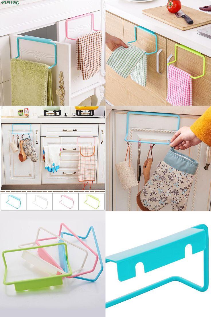 [Visit to Buy] PUTING 1 Piece Portable Kitchen Cabinet Over Door Hanging Towel Rack Holder Bathroom Kitchen Cabinet Cupboard Hanger Shelf #Advertisement