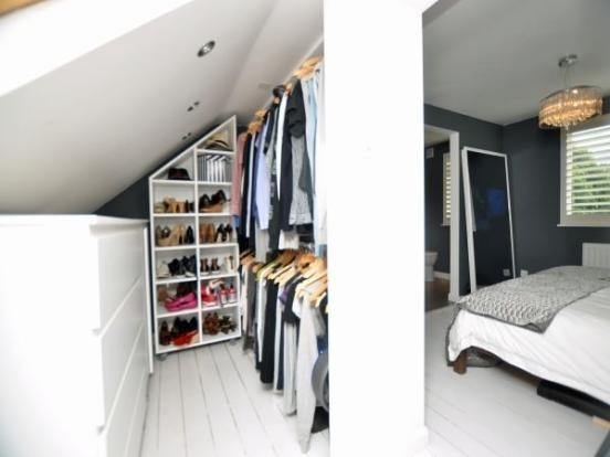 Loft bedroom wardrobe