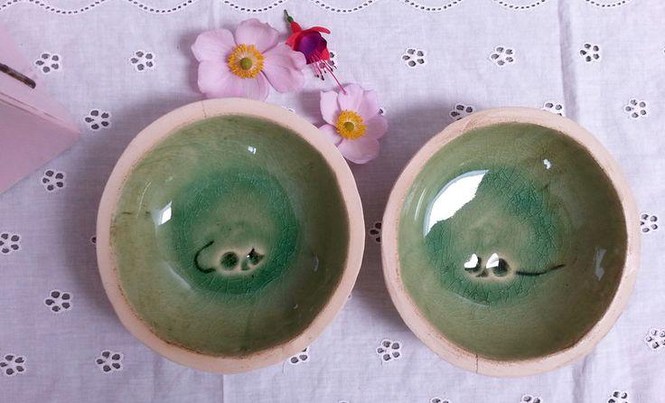 Näpfe & Unterlagen - ♥♥♥ Futternäpfe für Katzen - Hunde - 1Paar ♥♥♥ - ein Designerstück von art-mate bei DaWanda