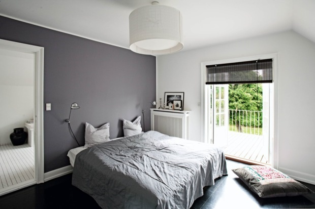 lovely gray accent wall bedroom | grey walls with white accent wall | h u m b l e - a b o d ...