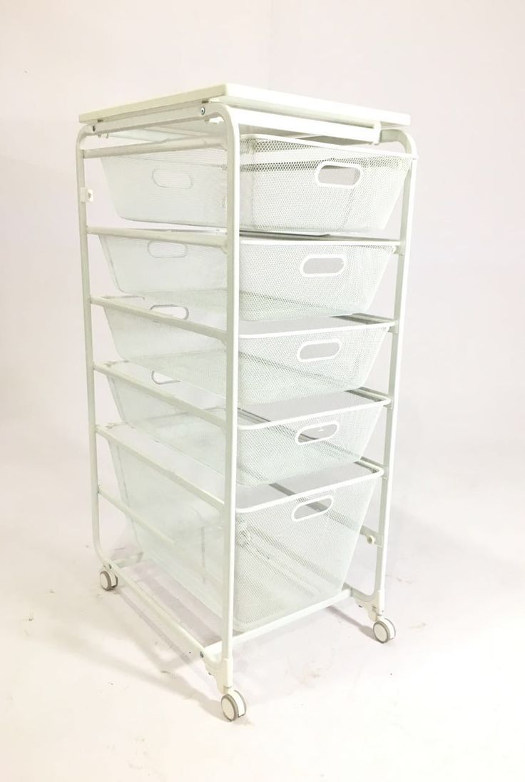"""PYF-0491--Metal White Net 5 Try Drawer with Whit Wooden Top(h40""""Xw16""""Xd22"""")"""