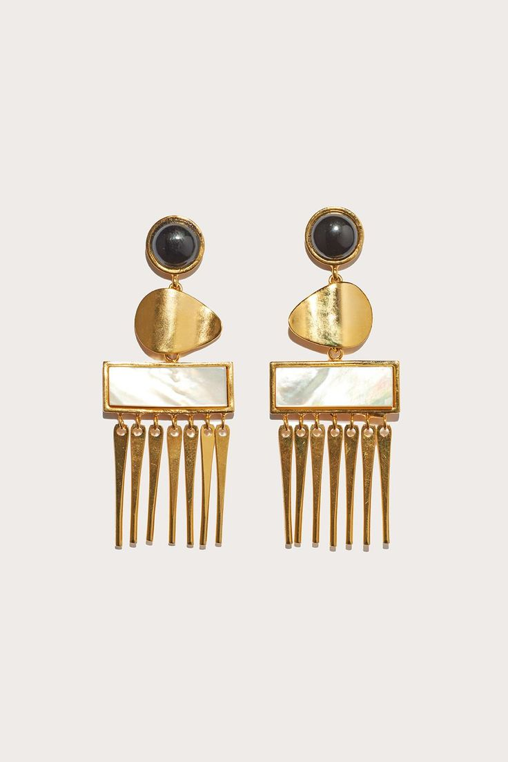 Con dao earrings by Lizzie Fortunato