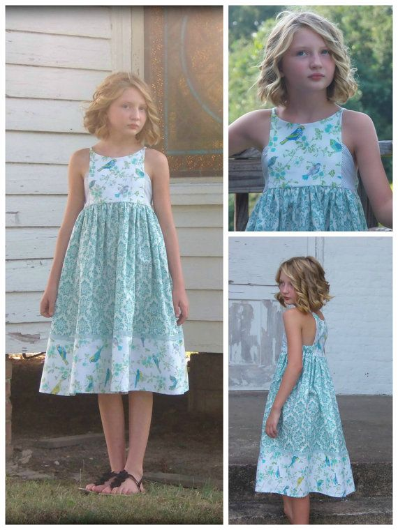 Hourglass Dress girls' summer dress PDF by RabbitRabbitCreation