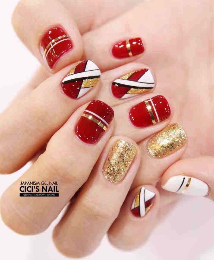 70 Simple Winter Nails Red Colors For Short Nails Art Designs Red Nails Nail Art Nail Art Designs