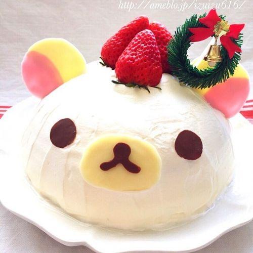 クリスマスに!キャラドームケーキのレシピ①コリラックマのドームケーキ