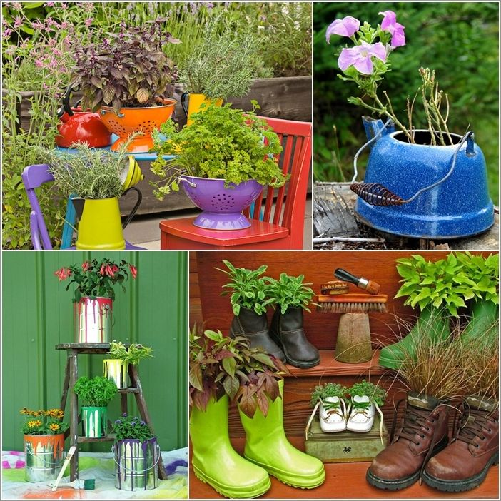 Best 25+ Recycled Planters Ideas On Pinterest