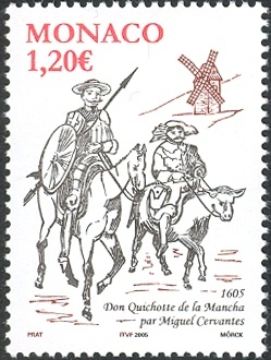 Literary Stamps: de Cervantes, Miguel (1547–1616)