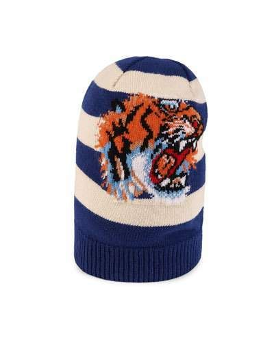 9b9ce464d2804 Gucci Striped Wool Hat with Tiger Appliqué  Gucci  caps  hats  ShopStyle   MyShopStyle click link for more information or to see other Caps and Hats
