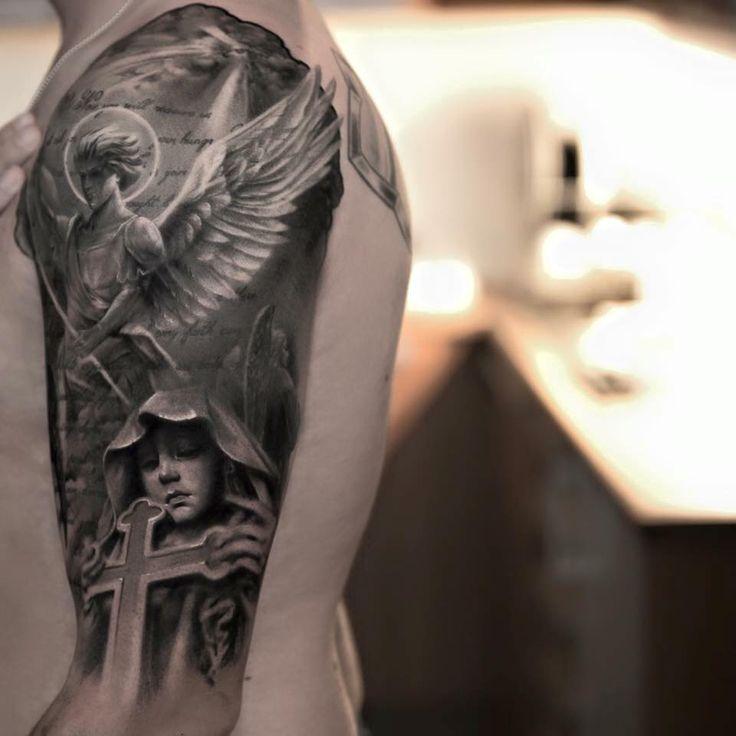 angel tattoo by niki norberg