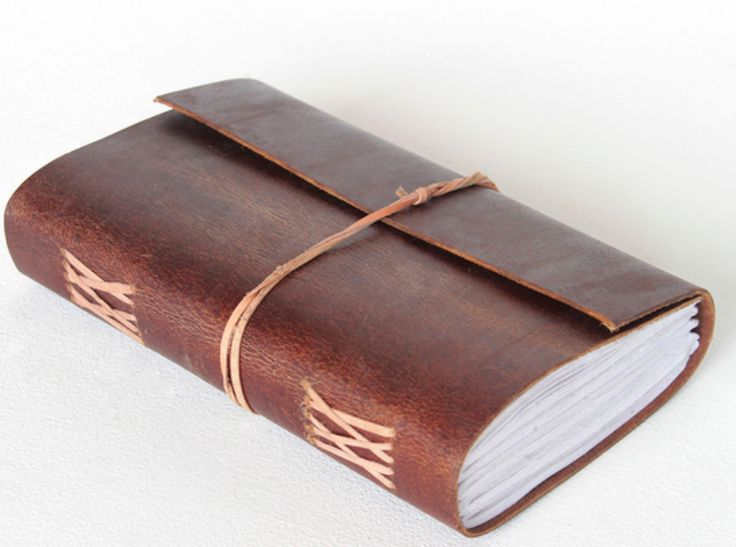 Our Leather Travel Journal is now handmade from our exclusive Hunter Leather. #leatherjournal #giftideas #christmasgift