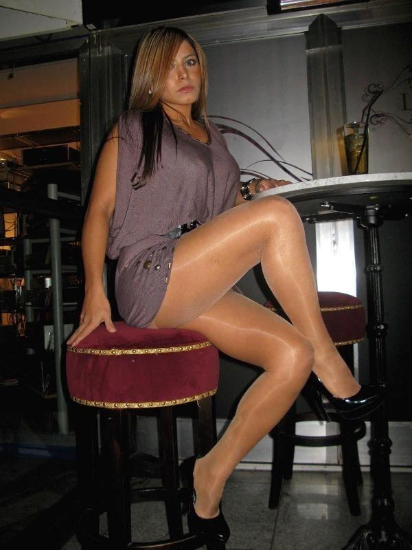 Women in suntan pantyhose