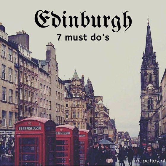 7 must do's in Edinburgh - Map of Joy
