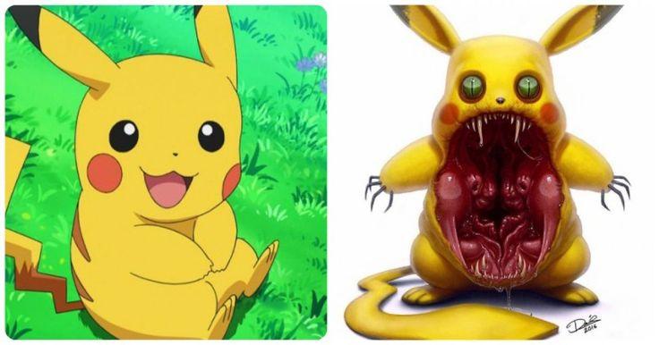 Este artista sueco transforma a famosos personajes de caricaturas en impactantes monstruos. ¡Que miedo con Shrek!