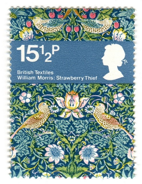 William Morris stamp - it's the half a penny that I love (as well as the design)