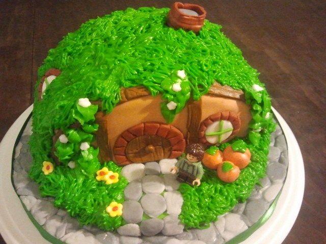 Hobbit House Birthday Cake