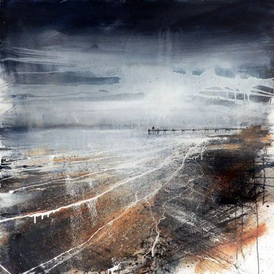 paintings+of+piers | Painting by Anthony Garratt. Clevedon Pier mixed media