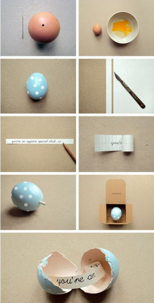 Secret Message Eggs - I totally want to do this!
