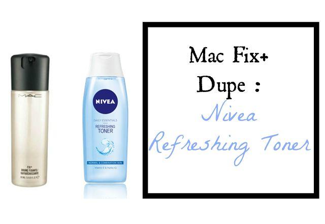 Mac Fix Dupe: Nivea Refreshing Toner