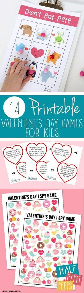 14 Printable Valentine's Day Games for Kids| Printable Games, Printable Games for Kids, Games for Kids, Kid Stuff, Valentines Day, DIY Valentines Day #KidStuff #ValentinesDayDIYs