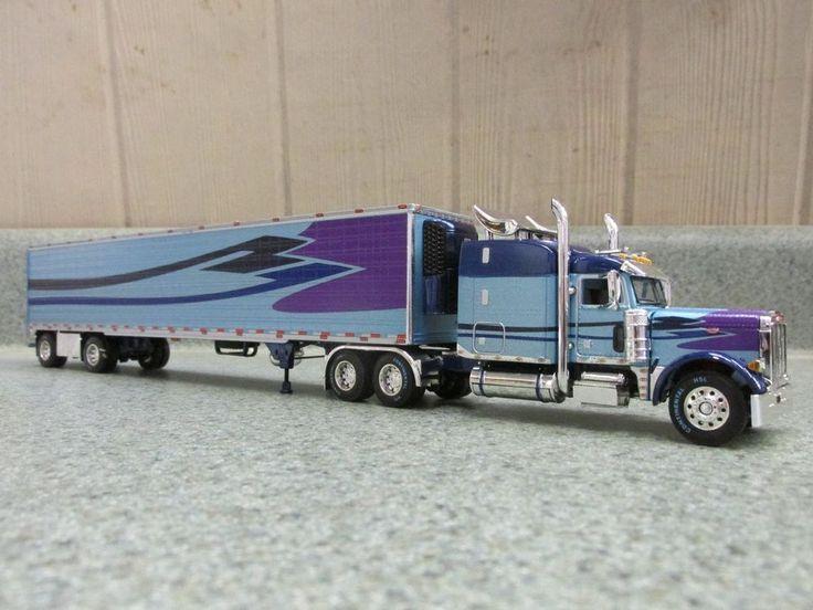 Custom Toy Semi Trucks : Dcp rare custom peterbilt with matching spread