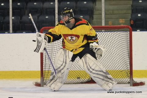 Excellent short shuffle and visual attachment to the puck, as well as great direction of the rebound