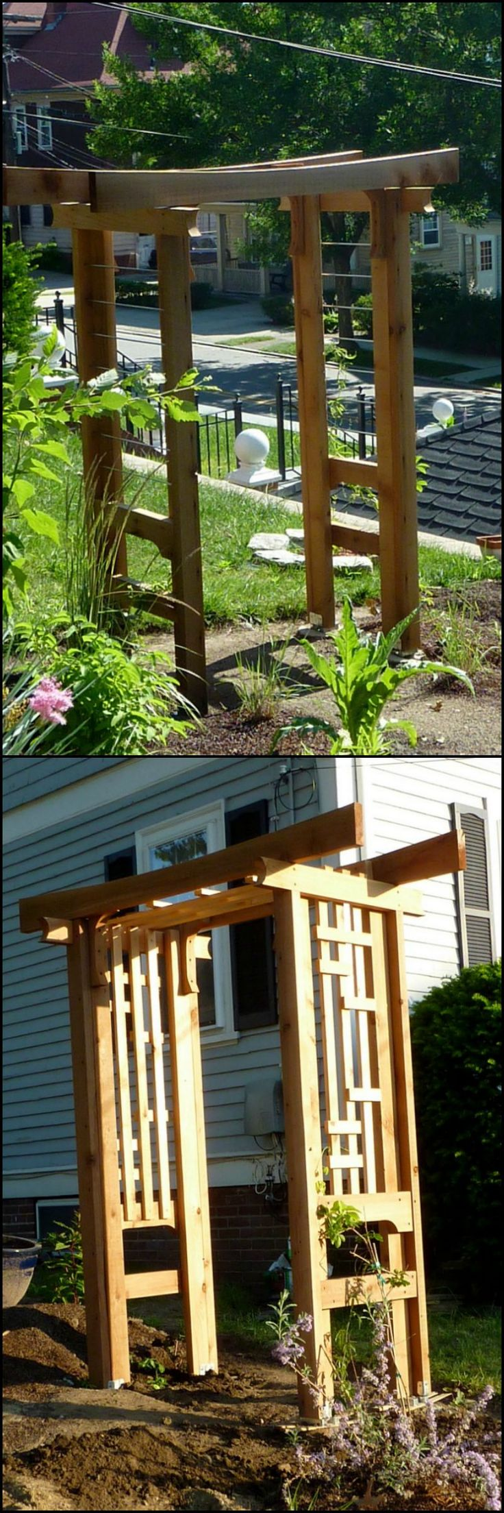 Custom trellis to match pergola landscapes by earth design - How To Build An Arbor Trellis Http Theownerbuildernetwork Co Ktt4 An