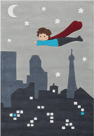 Must have for the boys' superhero room!   Name:Kid's Glow In the Dark 4110_3095-65 Rug