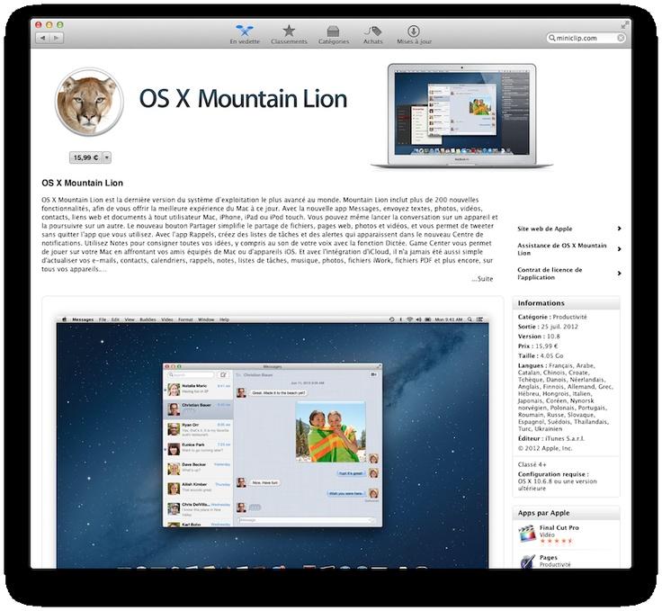 """Créer un disque USB """"bootable"""" de Mac OS X Mountain Lion (10.8) en 4 étapes !"""