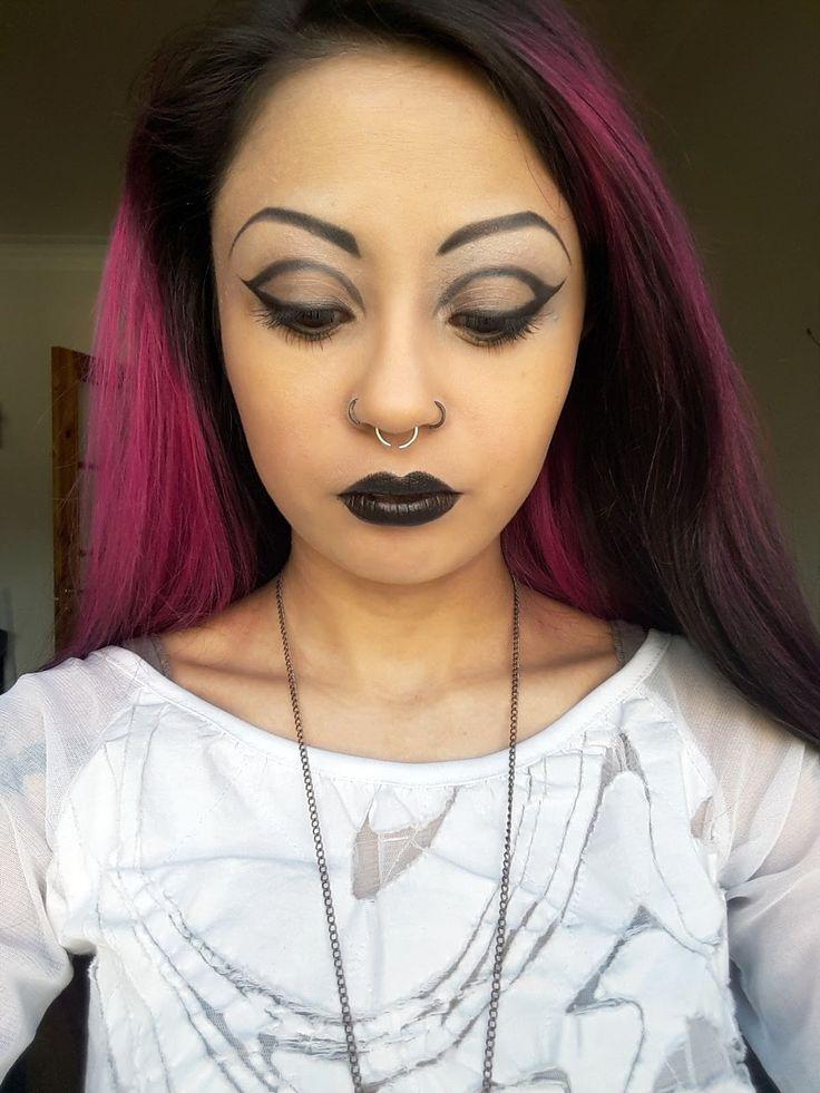 Gothic cut-crease make-up