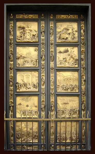 "The bronze doors known as ""The Gates of Paradise"" and also simply ""Ghiberti's Doors"""
