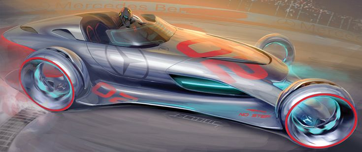 One of the designs from the LA Auto Show Hollywood Movie Car Design Challenge