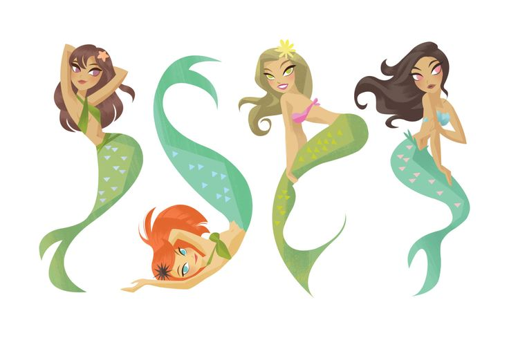 Pin-Up Mermaids by MaddieSandell on Etsy https://www.etsy.com/listing/213961851/pin-up-mermaids