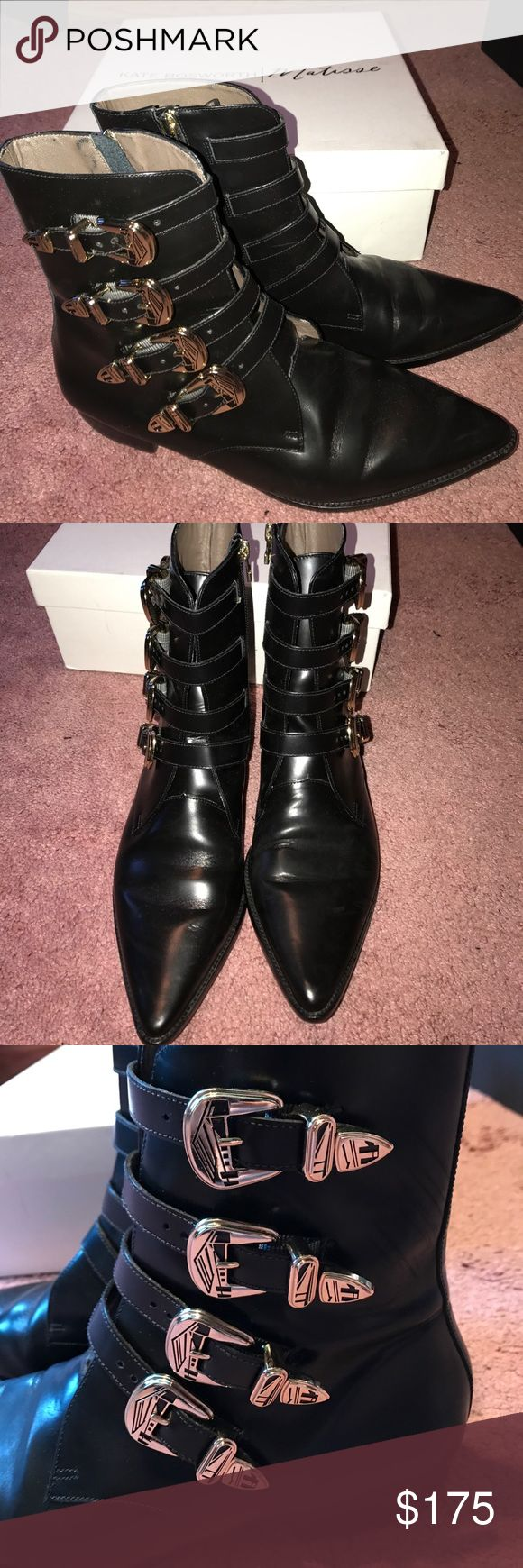 Kate Bosworth for Matisse Boots Kate Bosworth for Matisse boots with pointed toe and buckle details. In great condition, only worn once. Comes with box and dust bag. Matisse Shoes Ankle Boots & Booties