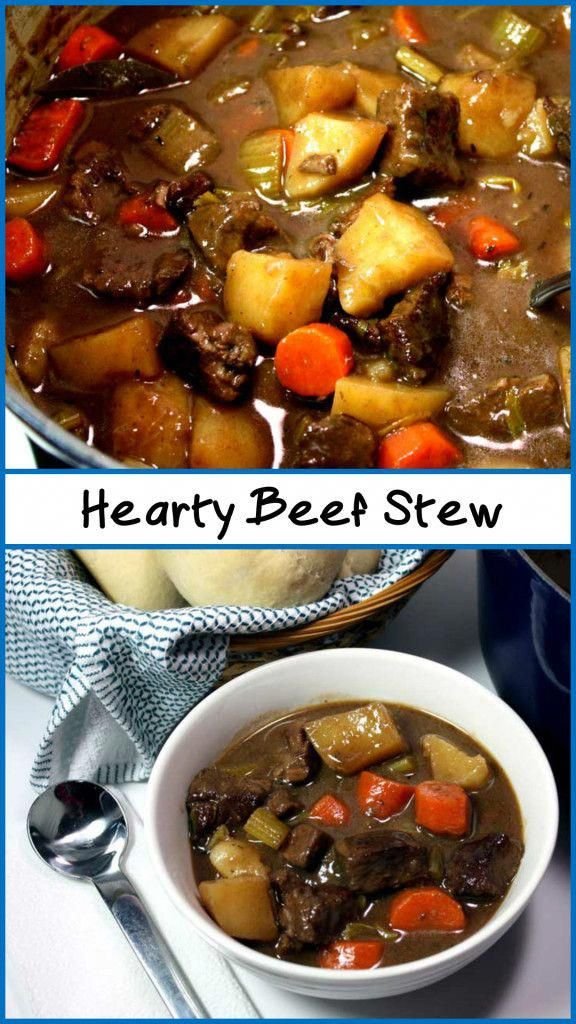 Hearty Beef Stew Thick Rich And Amazingly Delicious The Beef Melts In Your Mouth By Do Hearty Beef Stew Recipes For Soups And Stews Thick Beef Stew Recipe