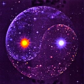 Union of masculine and feminine/End of separation~Lights, Balance, Stars, Purple Passion, Things, Purple Yinyang, Ying Yang, Yingyang, Yin Yang