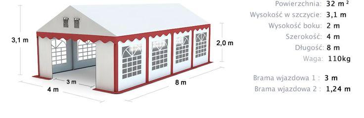Namiot handlowy 4x8 Commercial Tent 4x8