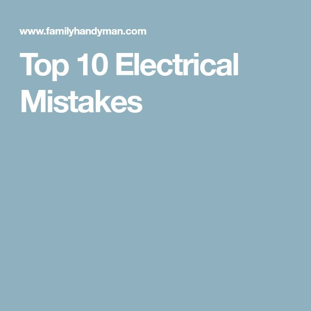 8 best Electrical Defects in the Home images on Pinterest | Cord ...