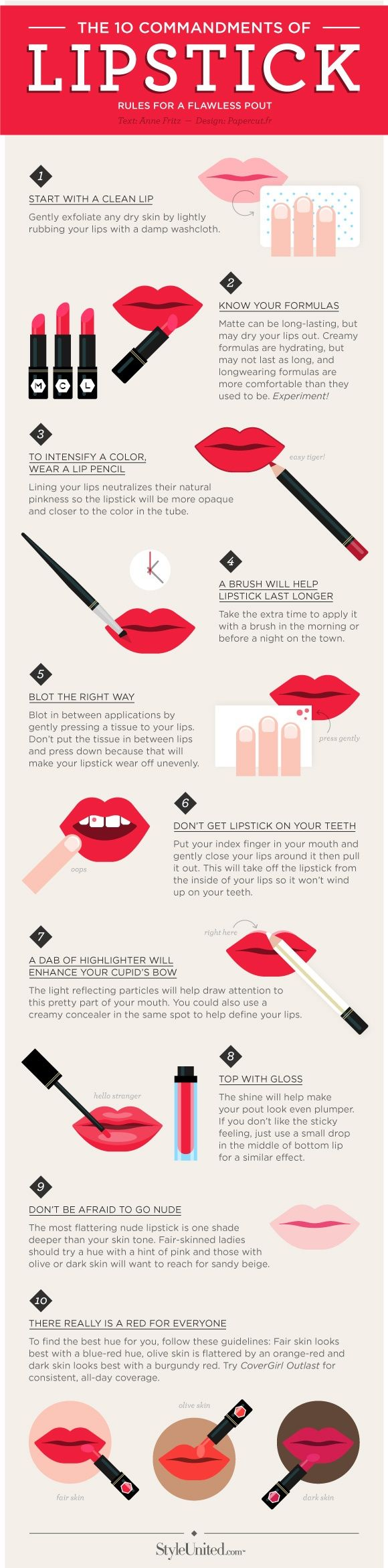 Top 10 Lipstick Tips For A Flawless Pout