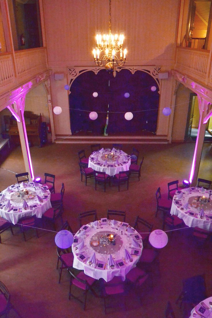 Wedding reception - decorations - purple