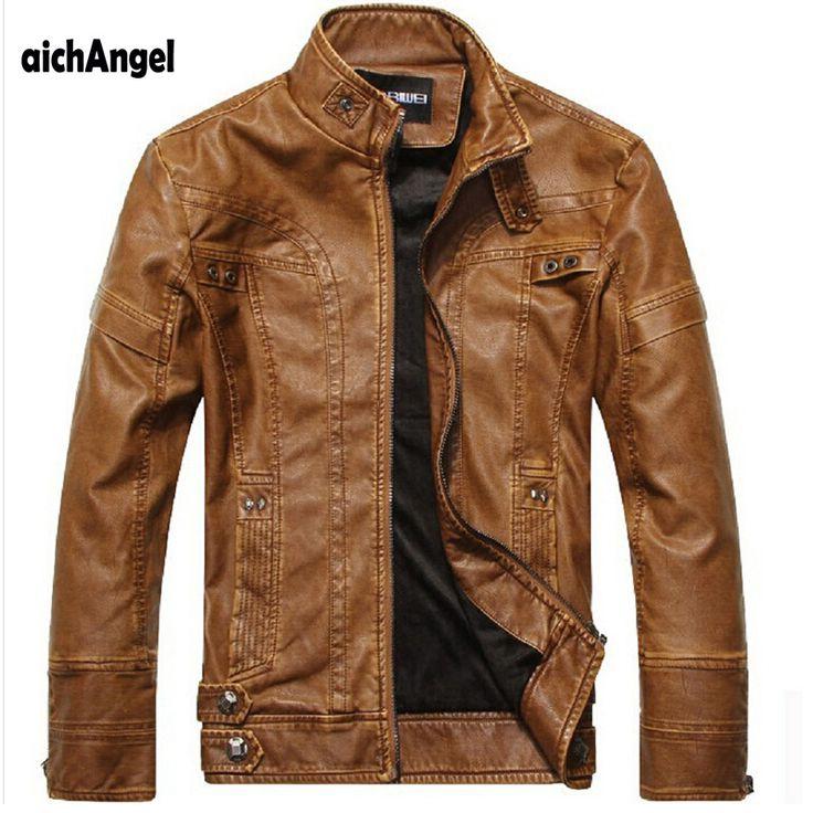 Aichang campana de la motocicleta chaquetas de cuero de los hombres otoño invierno clothing hombres chaquetas de cuero masculino de cuero casual de negocios abrigos en Chaquetas de Ropa y Accesorios en AliExpress.com | Alibaba Group