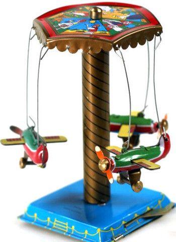 Tin Toy Aeroplane Carousel