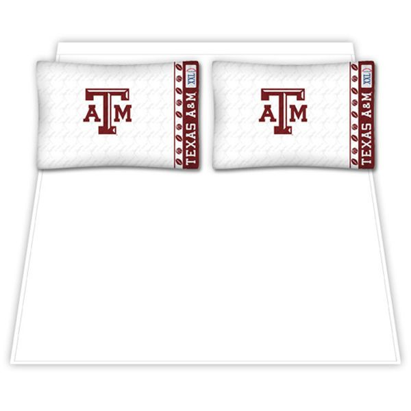 Texas A&M Aggies Queen Size Sheet Set - $69.99