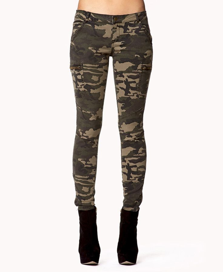 Creative Forever 21 Camo Skinny Jeans In Green  Lyst