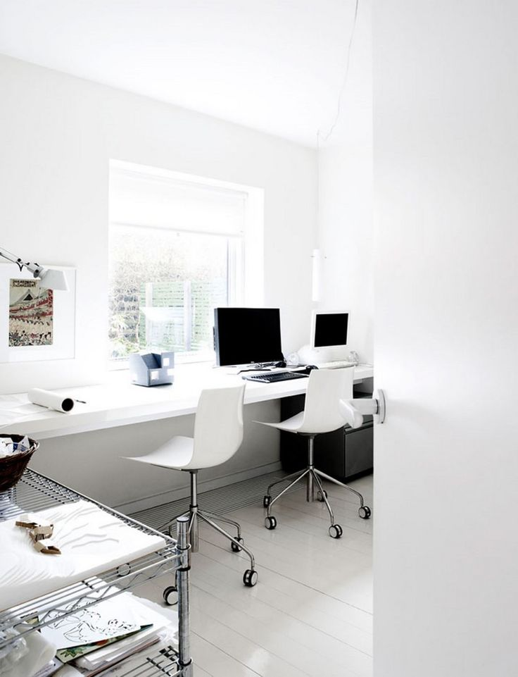 Interiorawesome modern office room interior design ideas with slim float office table also modern
