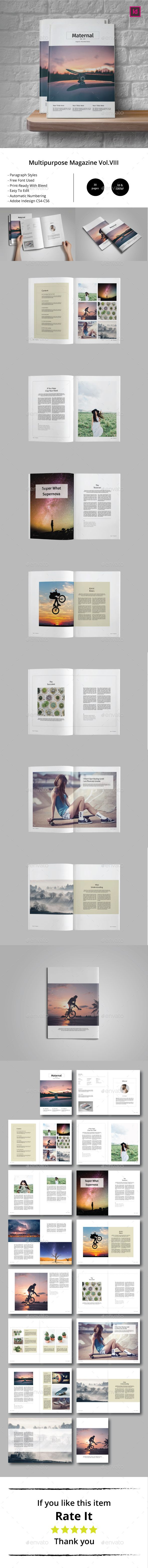 Multipurpose Magazine Template Vol.VIII — InDesign INDD #colorfull #white space • Download ➝ https://graphicriver.net/item/multipurpose-magazine-template-volviii/18867490?ref=pxcr